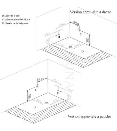dimension baignoire balno free baignoire balno dyona n. Black Bedroom Furniture Sets. Home Design Ideas